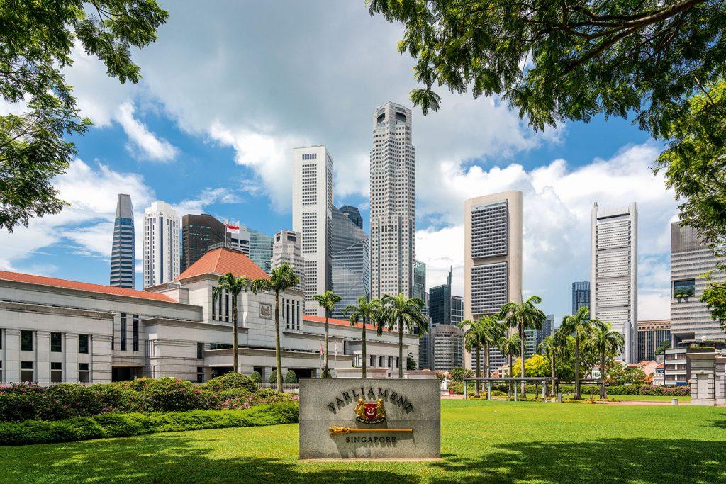 Parlamentsgebäude von Singapur unweit des Business District