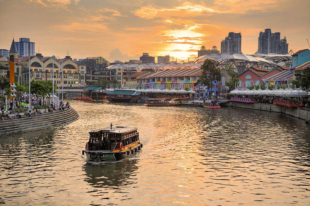 Ehemalige Lagerhäuser am Singapore River