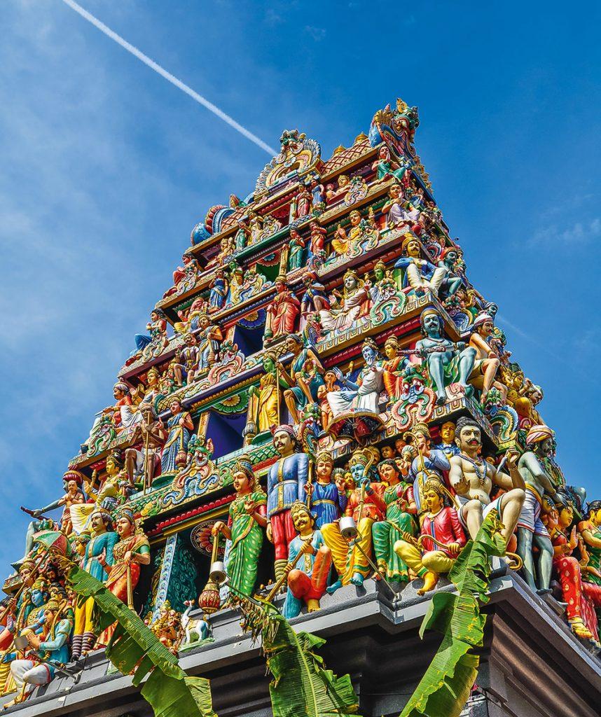 Turm des Sri Mariamman Tempels
